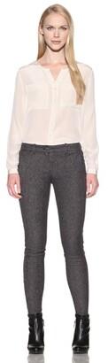 Charlotte Ronson Women's Skinny Cropped Zipper Jean