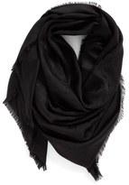 Marc Jacobs Monogram Silk & Wool Jacquard Scarf