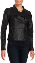 Andrew Marc Felix Leather Asymmetrical Jacket