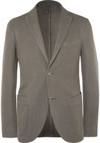 Incotex - Green Slim-fit Basketweave Cotton And Ramie-blend Blazer