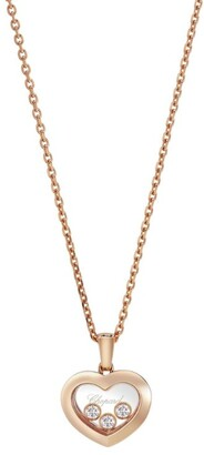 Chopard Rose Gold and Diamond Happy Diamonds Icons Pendant