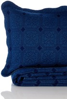 Melange Home Denim Diamond Quilt Set - Indigo Blue