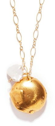 Alighieri The Jaja Pearl & 24kt Gold-plated Necklace - Womens - Yellow Gold