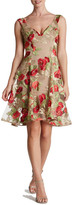 Dress the Population Maya Floral Embroidered Dress