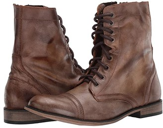 Steve Madden Trooper Boot (Tan Leather) Men's Lace-up Boots