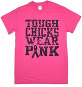 Breast Cancer Tough Chicks Wear Saftey Bright T-Shirt - 3XL - Tees2urdoor