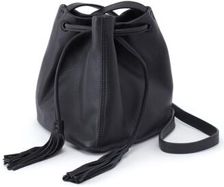 Hobo Sander Leather Crossbody Bucket Bag