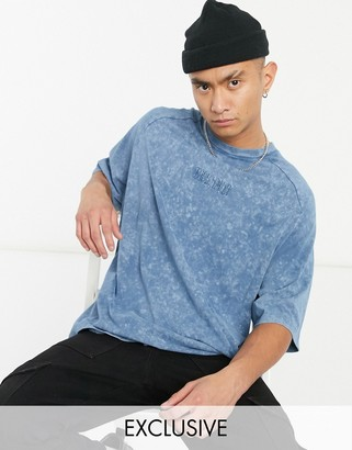 Reclaimed Vintage inspired oversized boxy t-shirt in blue