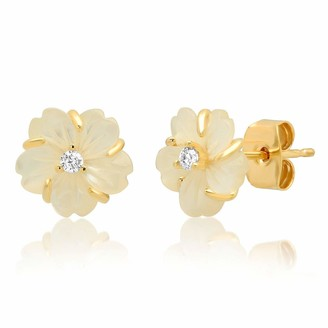 Tai Mother Of Pearl Floral Stud Earrings