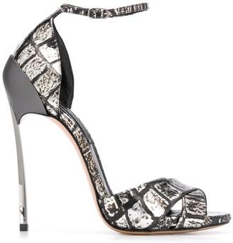 Casadei Techno Blade Crazy Coco 115 stiletto sandals