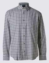 Marks and Spencer Pure Cotton Brushed Flannel Shirt