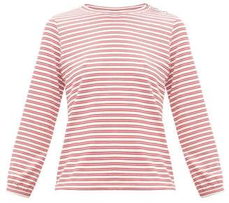 A.P.C. Striped Jersey Top - Womens - Red White