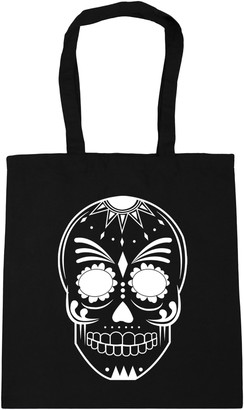 HippoWarehouse Mexican day of the dead skull illustration 2 Tote Shopping Gym Beach Bag 42cm x38cm 10 litres