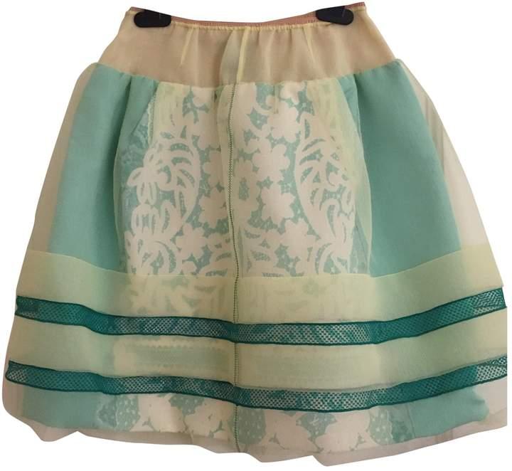 Louis Vuitton \N Yellow Silk Skirt for Women