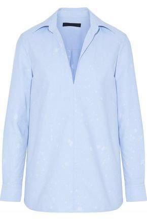 Alexander Wang Distressed Poplin Shirt