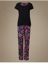 M&S Collection Pure Cotton Floral Print Short Sleeve Pyjamas