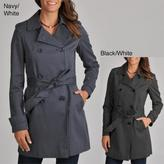 Tommy Hilfiger Women's Polka-dot Belted Trench Coat