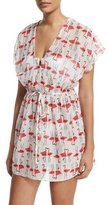 Milly Palmones Flamingo-Print Coverup Dress