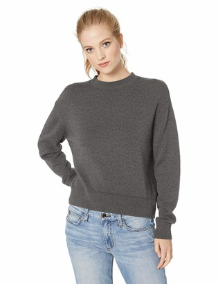 Daily Ritual Amazon Brand Women's 100% Cotton Long-Sleeve Crewneck Sweater