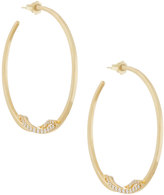 Lana 14k Flawless Knot Pave Diamond Hoop Earrings