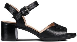Geox D Marykarmen Mid San Leather Sandals