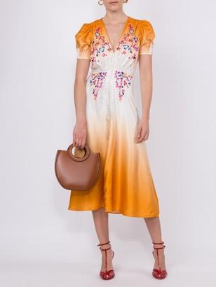 Saloni Lea Dip Dye Tea Dress
