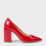 Paul Smith Women's Red Mock Croc Leather 'Lin' Shoes