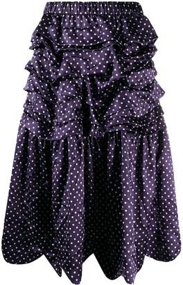 COMME DES GARÇONS GIRL High-Waisted Dotted Skirt