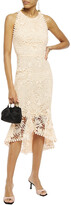 Thumbnail for your product : Maria Lucia Hohan Ayane Lace-up Fluted Cotton Guipure Lace Dress