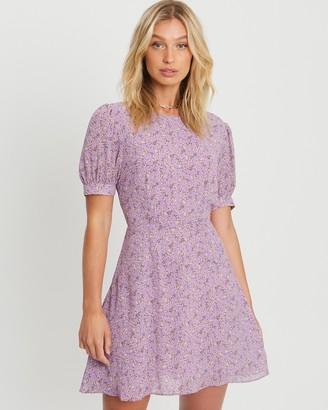 Savel - Women's Purple Mini Dresses - Court Mini Dress - Size 12 at The Iconic