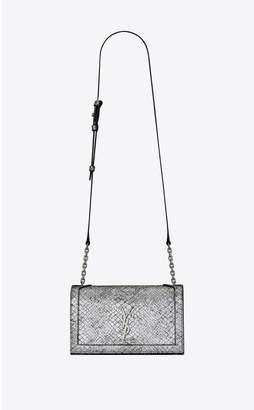 Saint Laurent Book Bag In Lame Python-Embossed Leather