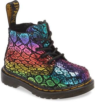 Dr. Martens 1460 Pascal Rainbow Croc Print Boot