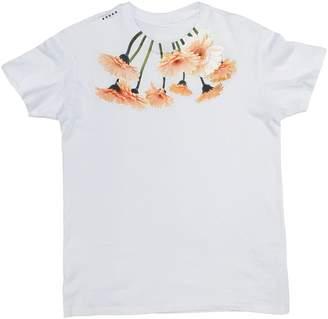 Petja Zorec White Big Bouquet Neck T-Shirt Mens