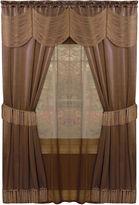 Asstd National Brand Halley 6-pc. Sheer Rod-Pocket Curtain Set