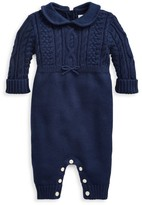 Ralph Lauren Baby Boy's Cable-Knit Combo Coverall
