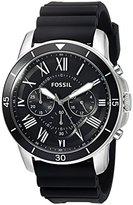 Fossil Mens FS5254 Grant Sport Chronograph Black Silicone Watch
