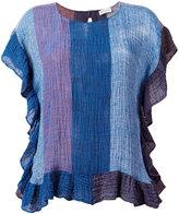 Masscob colour block top - women - Linen/Flax/Polyamide - XS