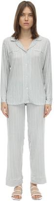 Eberjey Nordic Striped Jersey Pajama Set
