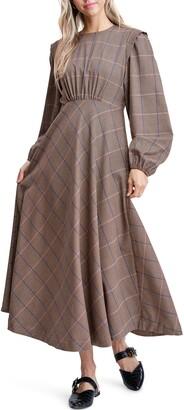 En Saison Plaid A-Line Dress