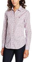 Gant Women's Broadcloth Stretch Paisley Shirt Regular Fit Blouse