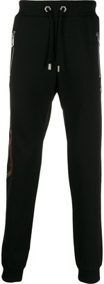 Philipp Plein logo embroidered track trousers