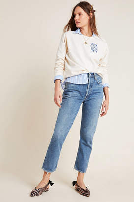 A Gold E Agolde AGOLDE Riley Ultra High-Rise Cropped Straight Jeans