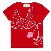 Gucci Baby's Dove-Print Cotton T-Shirt