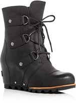 Sorel Joan Of Arctic Lace Up Wedge Booties