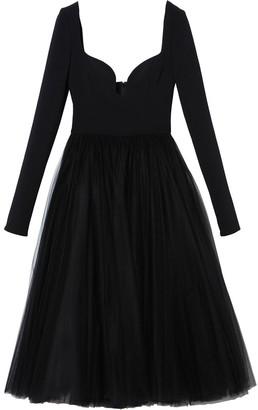 Carolina Herrera Long-Sleeved Tulle Dress