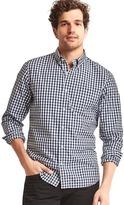 Gap True wash poplin gingham standard fit shirt