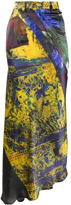 Ottolinger Multiline abstract-print skirt