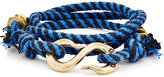 Giles and Brother GILES AND BROTHER MEN'S ROPE WRAP BRACELET WITH S-HOOK