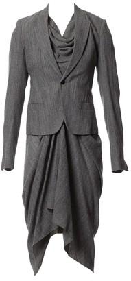 Rick Owens Grey Wool Dresses