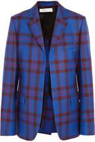 Victoria Beckham Tartan Wool-twill Blazer